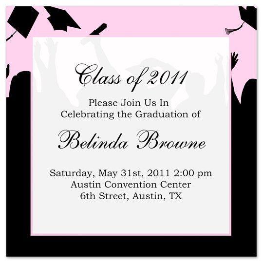 Free Graduation Invitation Templates For Word - Neepic.Com