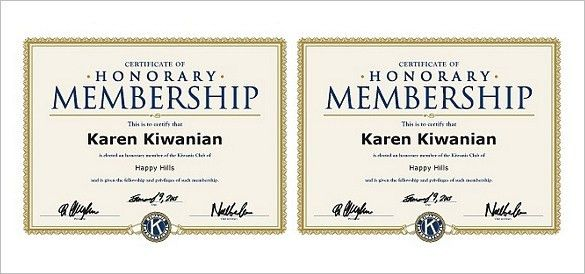 28+ Honorary Member Certificate Template | Honorary Life Members ...
