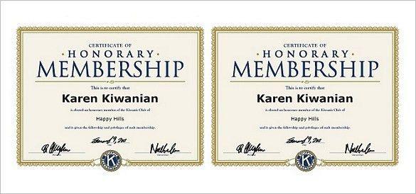 28+ Honorary Member Certificate Template | Honorary Life Members ...