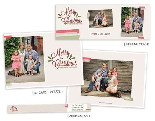 74 best Photoshop templates images on Pinterest | Holiday cards ...