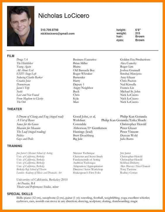 sample actor resume best 25 acting resume template ideas on