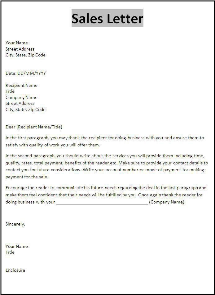 Sales Letter Template | Templates | Pinterest | Letter templates ...