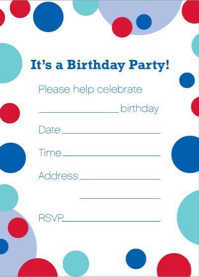 Birthday Invite Template – gangcraft.net