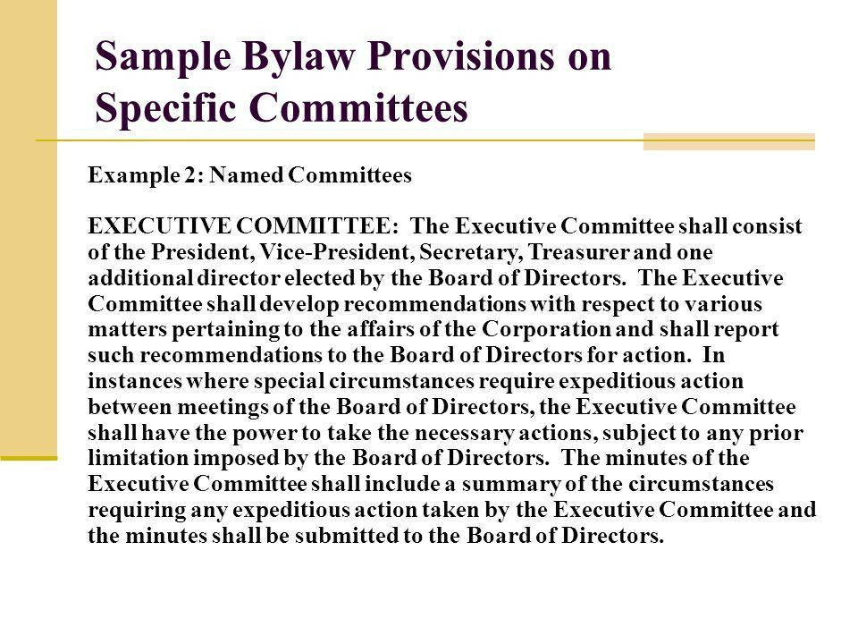 Sample Bylaws Template. sample bylaws and templates templates and ...