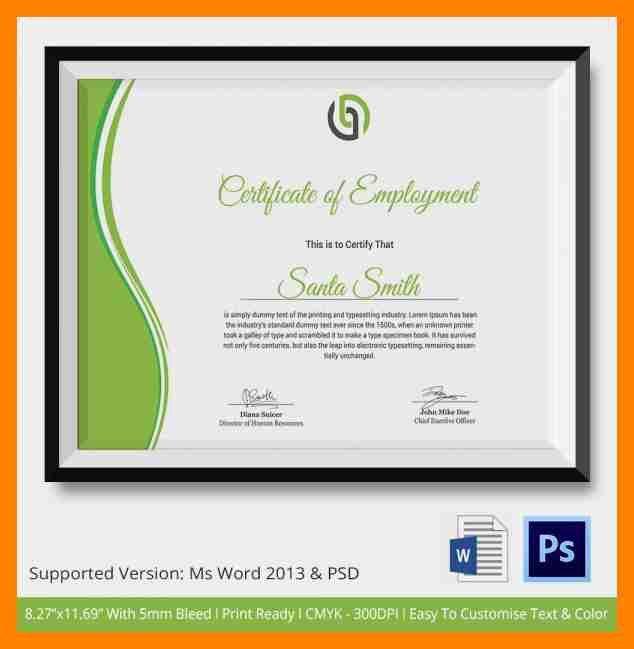 5+ sample of certificate | resumed job