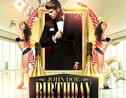 Classy Birthday Bash Flyer Template PSD on Behance