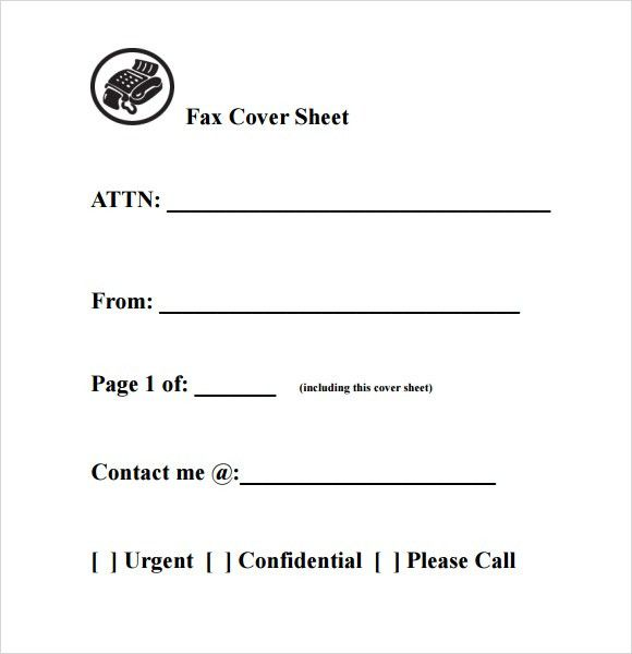 10+ Fax Cover Sheet Templates   Word Excel PDF Formats
