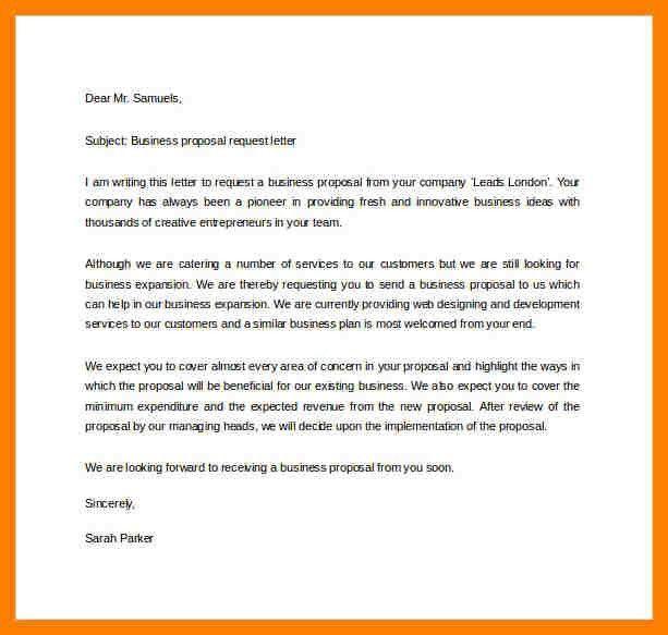 Proposal Request Letter. Proposal Sample Of Sponsorship Letter ...