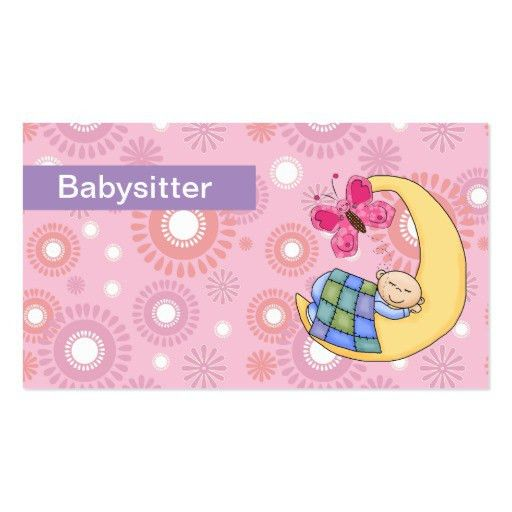Custom Card Template » Babysitting Business Cards Free Templates ...