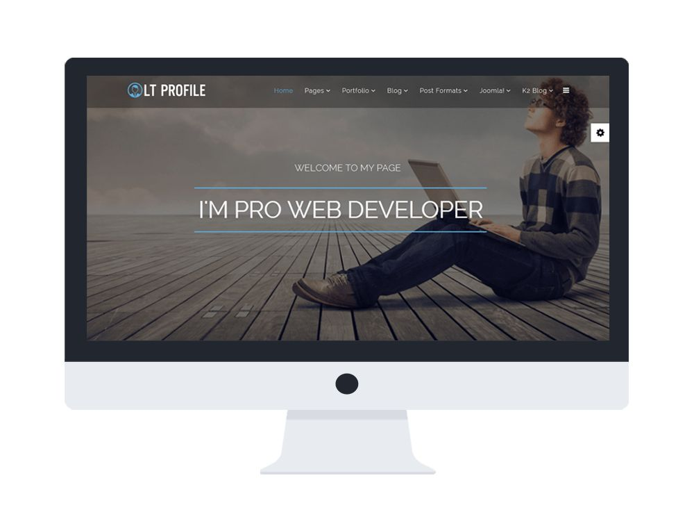 LT Profile Onepage – Free One Page Responsive Resume, CV, Profile ...