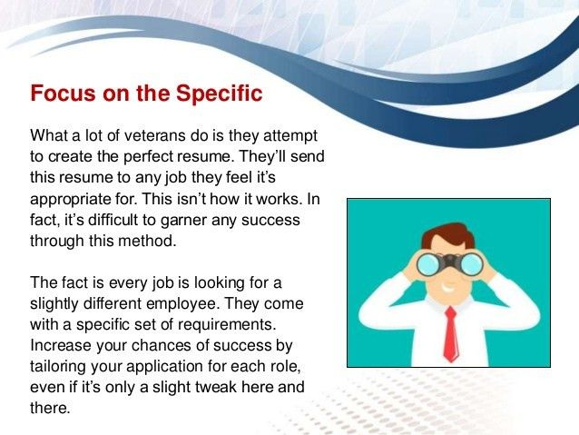 Resume building tips for veterans