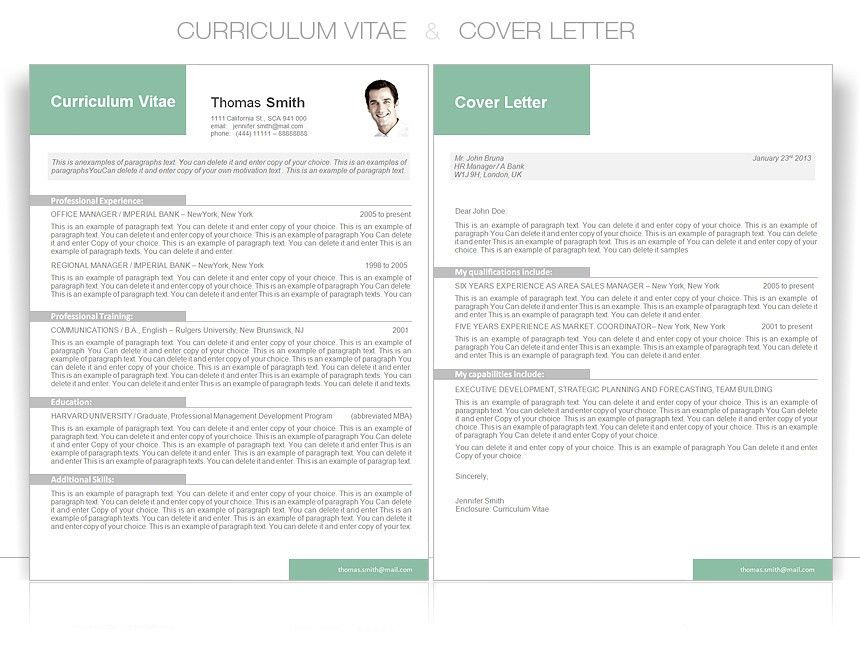 CV Template • CV Template Package Includes: Professional layout ...