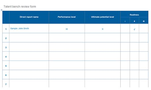 Succession planning templates | Download toolkit