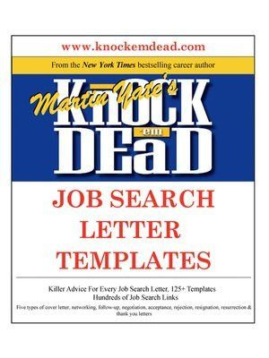 Knock 'em Dead Job Search Letter Templates by Martin Yate ...