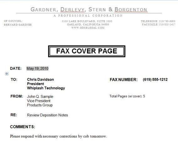 Fax Letter Format Sample [Template.billybullock.us ]