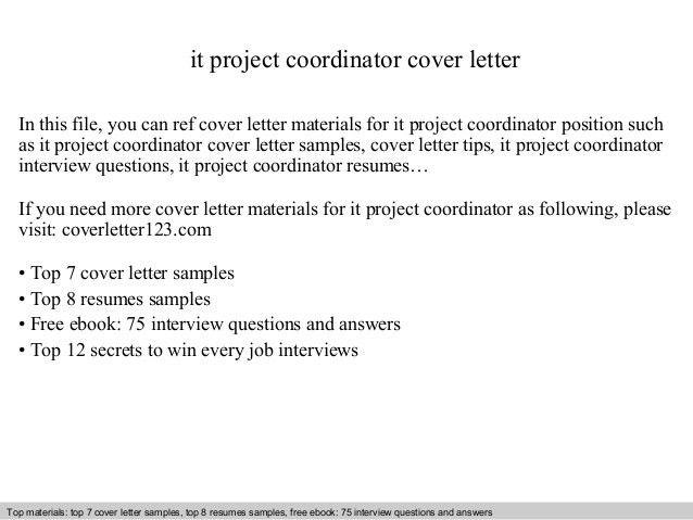 project coordinator resume sample cover latter sample pinterest ...