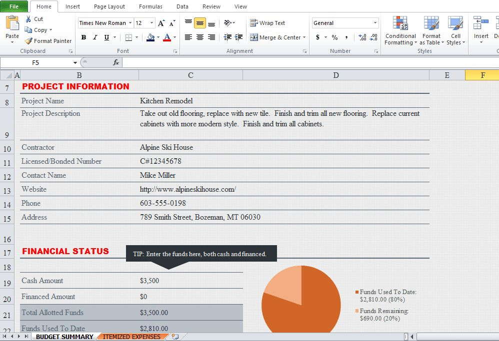 Construction Schedule Template Excel Free Download - Excel Tmp