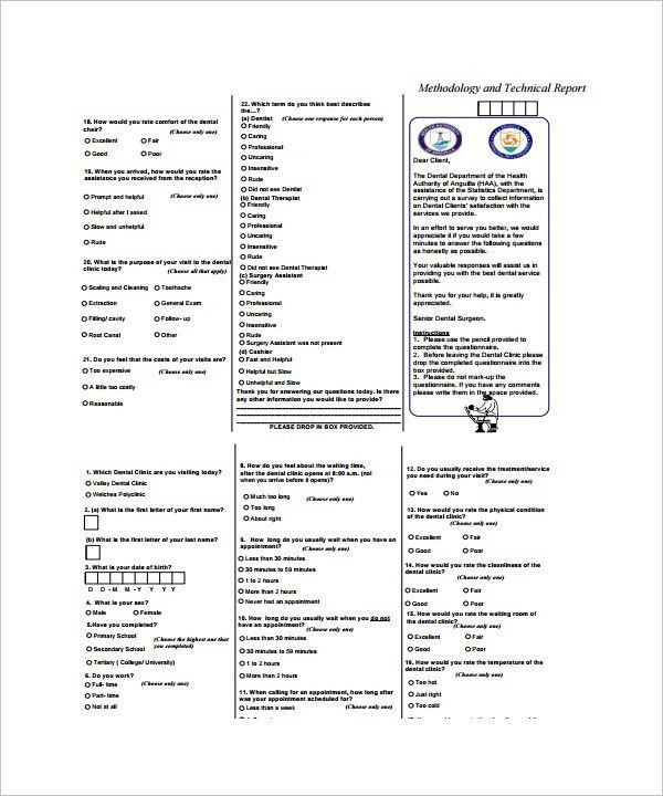 Sample Patient Survey Template - 5+ Free Documents in Word, PDF