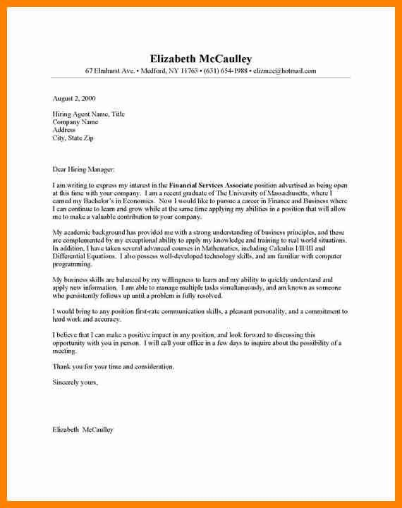 Entry Level Cover Letter Example - CV Resume Ideas