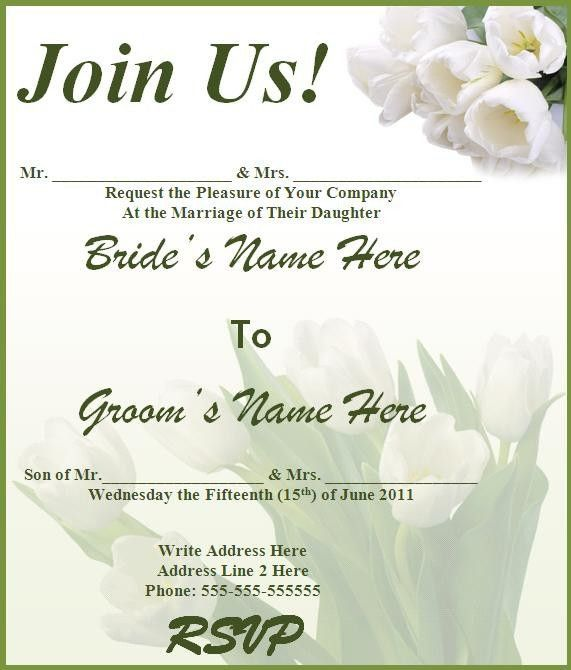 26 Wedding Invitation Template Word | Vizio Wedding