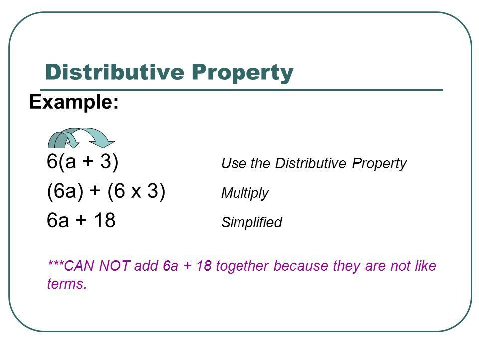 Distributive Property & Combining Like Terms - ppt download