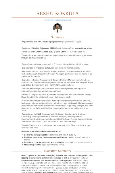 Assistant Vice President Resume samples - VisualCV resume samples ...