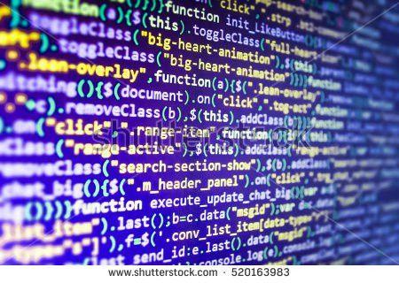 Coding Application Developer Programmer Developer Screen Stock ...
