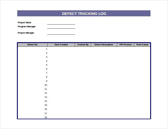 Log Templates – 15+ Free Word, Excel, PDF Documents Download ...