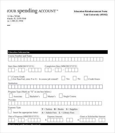 Reimbursement Form Template - 9+ Free Excel, PDF Documents ...
