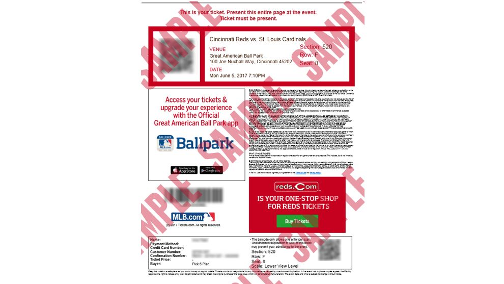Print Tickets at Home | MLB.com