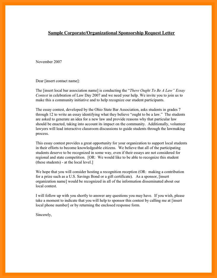 5+ sponsor letter sample for student | musicre sumed