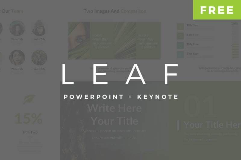 Leaf Pitch Deck - Free PowerPoint and Keynote Templates