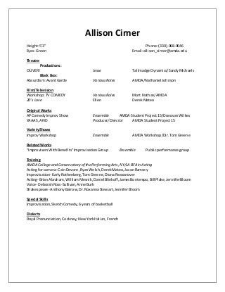 theater resume example best 25 acting resume template ideas on