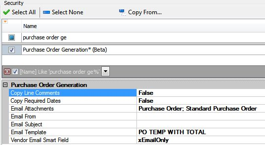Purchase Order Generation - Support   SalesPad