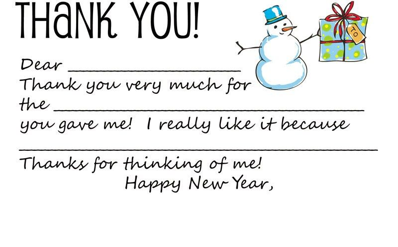 Dabbled | Download: Printable Holiday Thank You Note Template for Kids