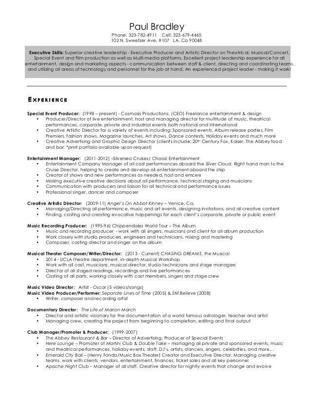 creative director resume - Creative Director Resume Sample