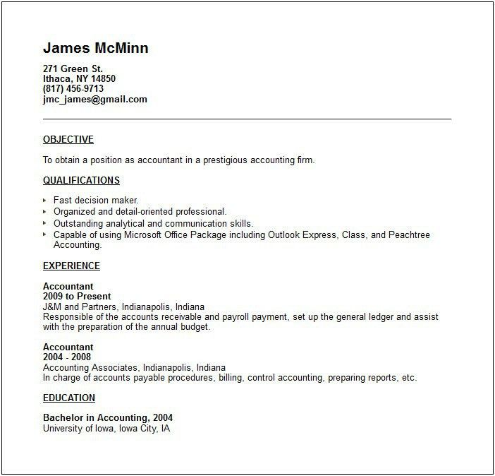 Work Experience Resume Example. Find This Pin And More On Job ...
