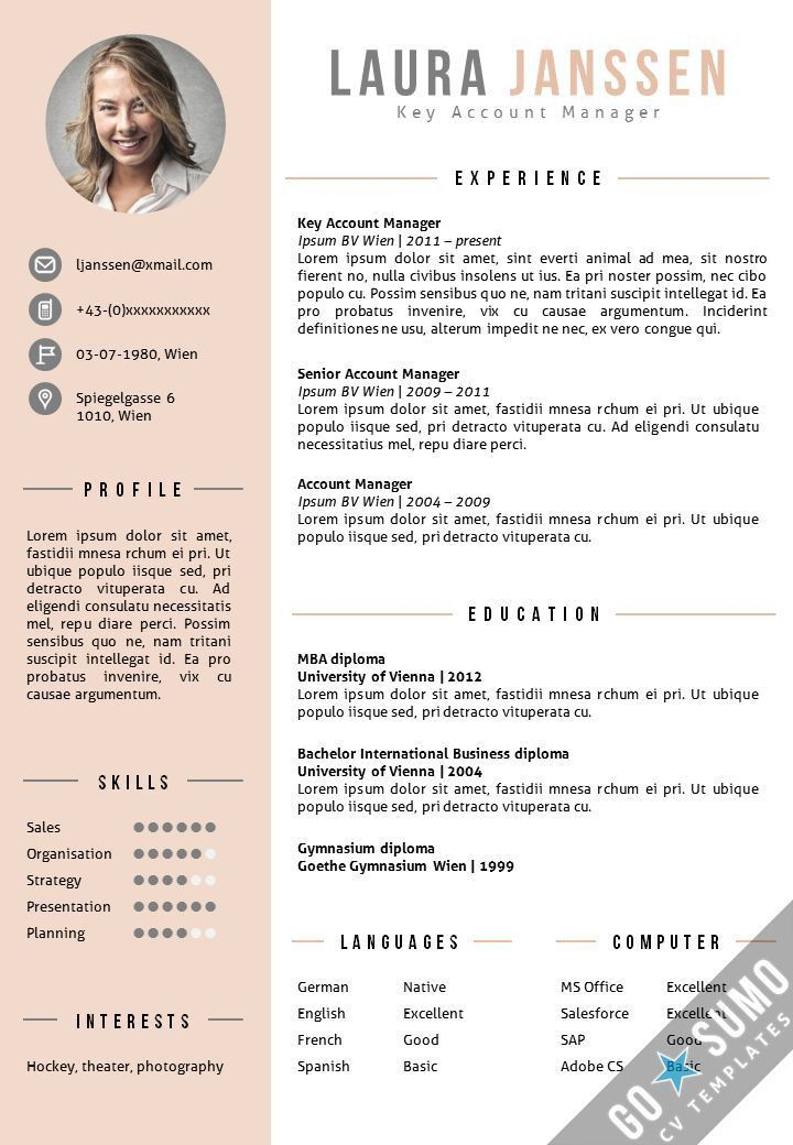 Best 25+ Template for cv ideas on Pinterest | Template for resume ...