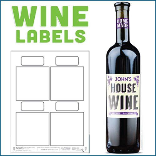 Blank Wine Labels, Water Resistant, Peel Off With Ease