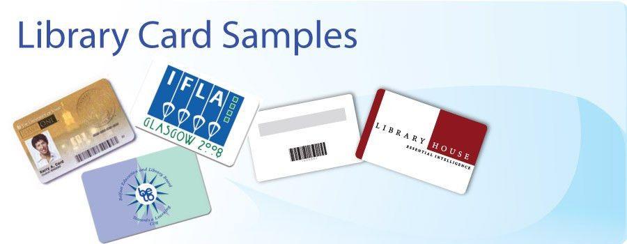 Custom Plastic Library Card Sample Designs
