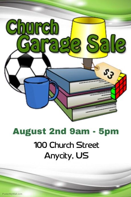 Church Garage Sale Flyer template | PosterMyWall
