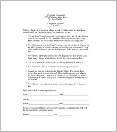 Consignment Agreement Template. Basic Rental Agreement For Room ...