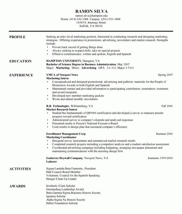 Entry Level Accounting Resume Objective | Template Design