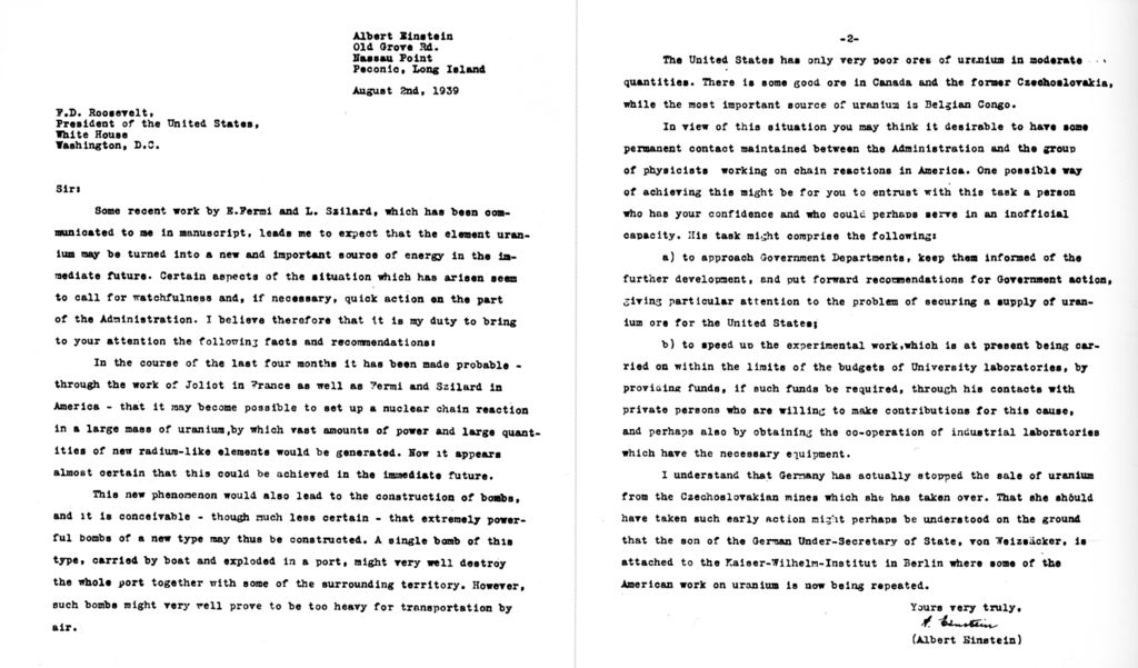 File:Einstein-Roosevelt-letter.png - Wikimedia Commons