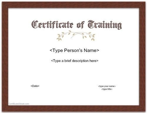 7 Best Images of Downloadable Training Certificate - Free ...