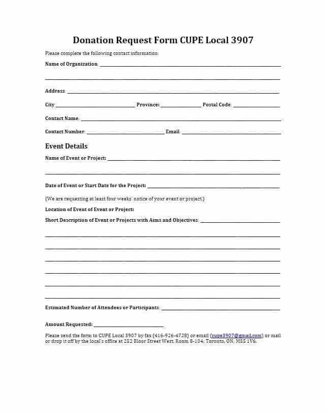 Sponsorship Request Form. 43 Free Donation Request Letters & Forms ...