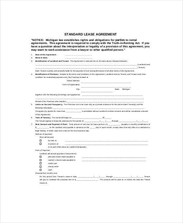 Free Lease Template - 8+ Free Word, PDF Documents Download | Free ...