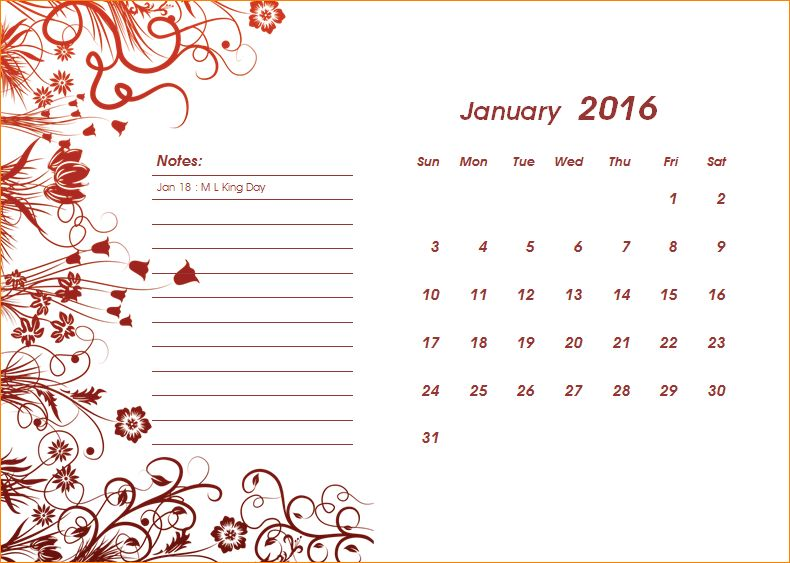 5+ calendar template for word | Outline Templates