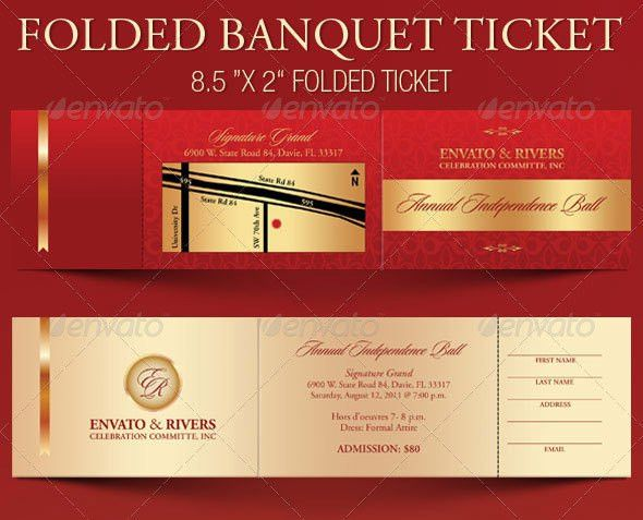 12 Ticket Design Templates | Wakaboom