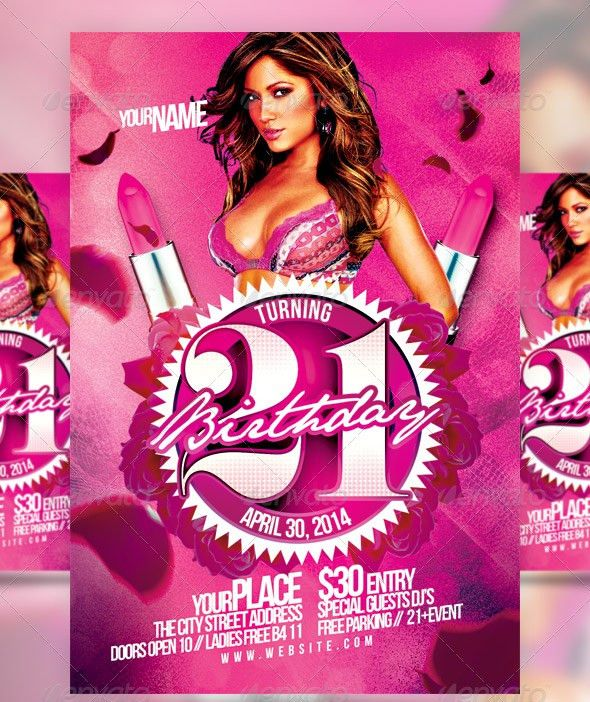 Birthday Flyer Template. 10Free Chic Night Free Flyer Template ...